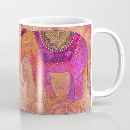 Elephants In Love With Heart Coffee Mug