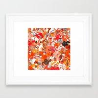 girls Framed Art Prints featuring Girls by Mouni Feddag