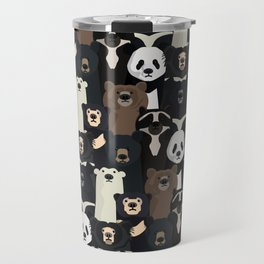 Bears of the world pattern Travel Mug