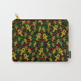 Red Black Green Ankh Carry-All Pouch