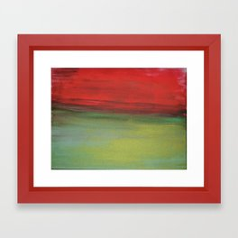 Colour plate - red and green Framed Art Print