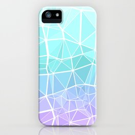 Cyan, Turquoise, and Purple Triangles iPhone Case