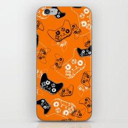 Video Game Orange iPhone Skin