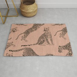 peach leopard pattern Rug