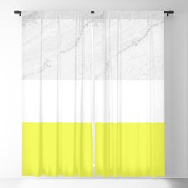 Marble yellow stripes Blackout Curtain