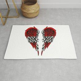 Swiss wings art Rug