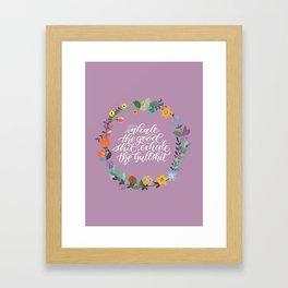 Inhale/Exhale - Lavender Framed Art Print