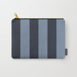 Wide Stripe Blues Carry-All Pouch