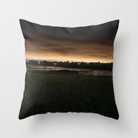 portland Throw Pillows featuring Portland by Caren Lewis