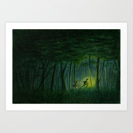 Throughout the woods... Art Print
