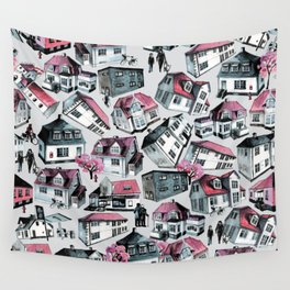 Danish small town pattern Wall Tapestry