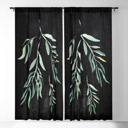 Eucalyptus Branches On Chalkboard II Blackout Curtain