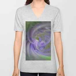 Purples and Greens Unisex V-Neck