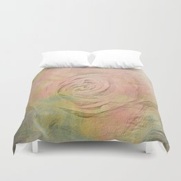 Timeless Vintage Pressed Pastel Rose Duvet Cover