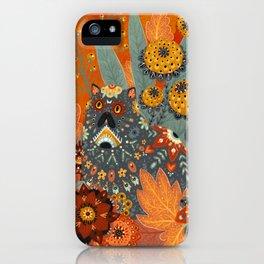 Foliage Cat iPhone Case