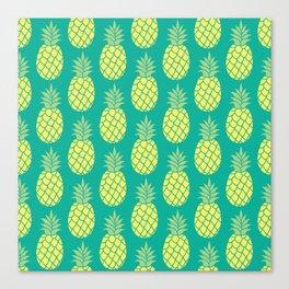 Summer Pineapple Pattern Canvas Print