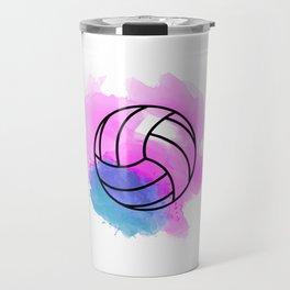 Volleyball Watercolor Travel Mug