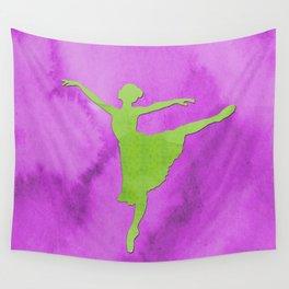 AP123 Watercolor dancer Wall Tapestry