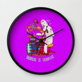 Drumming is therapeutic Wall Clock