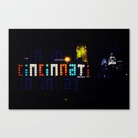 cincinnati Canvas Prints featuring Funky Cincinnati  by Sandiest Photography
