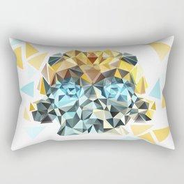 Bumblebee Low Poly Portrait Rectangular Pillow