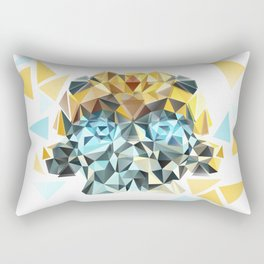 Bumblebee Low Poly Portrait Rectangular Pillow
