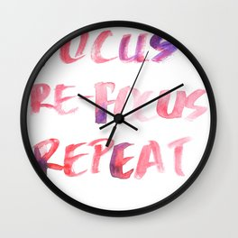 150226 Typography 30 Wall Clock