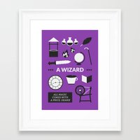 ouat Framed Art Prints featuring OUAT - A Wizard by Redel Bautista