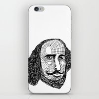 shakespeare iPhone & iPod Skins featuring William Shakespeare by Feld Sprucetree