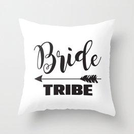 Bride Tribe Arrow Groom Tribe Bridal Party Bridesmaid Groomsmen Bachelor Bachelorette Throw Pillow
