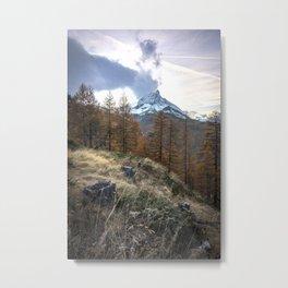 Autumn by the Matterhorn Metal Print