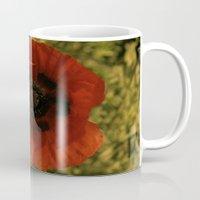 woodstock Mugs featuring woodstock flowers by Teresa Gabry