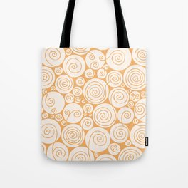 Still Waiting For Spring Bright Orange Pattern Tote Bag