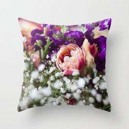 Fresh Flower Lovin' Throw Pillow