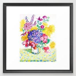 Exuberant Summer Bouquet Framed Art Print