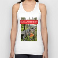 trex Tank Tops featuring PIZZA TREX!! by anthonykun