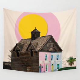 The Pink House Wall Tapestry