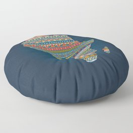 Africa map Floor Pillow