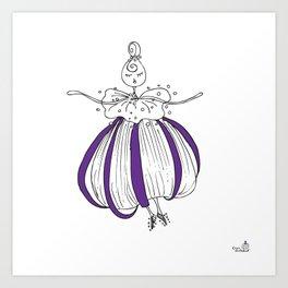 The purple sea-urchin Art Print