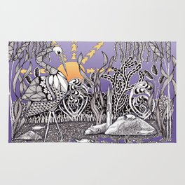 Zentangle Daylight in the Swamp Rug