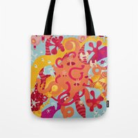 mad Tote Bags featuring MAD by Piktorama