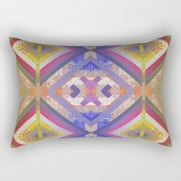Ancient Future Psychedelic Geometric Boho Quilt Print Rectangular Pillow