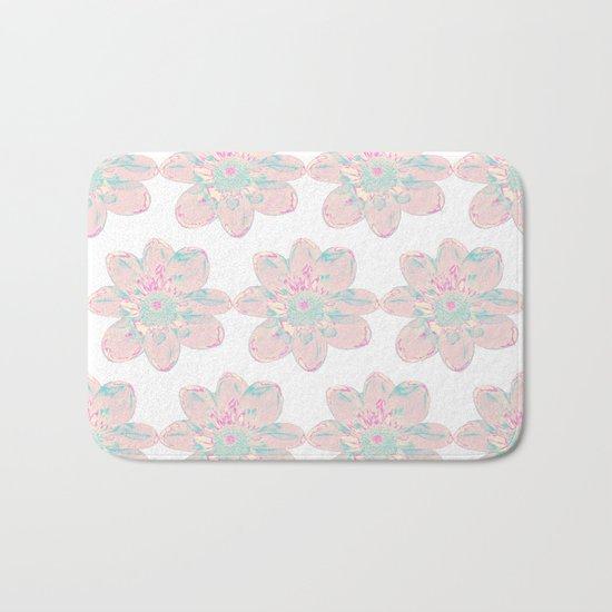 Flower Pattern #4 Bath Mat