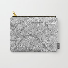 Paris Map Line Carry-All Pouch