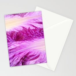 Purple Cabbage Beautiful Abstract Patterns By Nature Stationery Cards