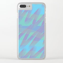 Sea scribble Clear iPhone Case