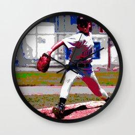 baseball throw Wall Clock
