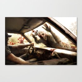 Zombie Drive Through By BoardZombies Skateboard Art Design Canvas Print