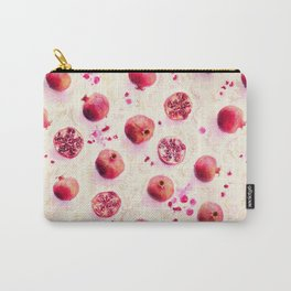 Painted Pomegranates with Gold Leaf Pattern Carry-All Pouch