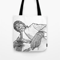 pulp Tote Bags featuring pulp by BzPortraits